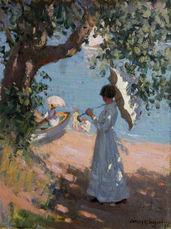 Lady with Parasol 1916
