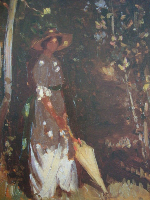 Lady with parasol 1914