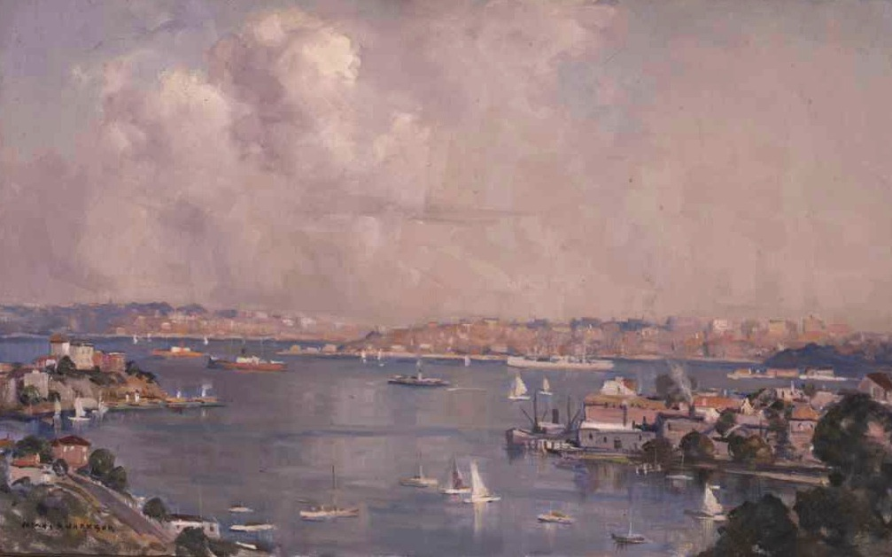 Sydney Harbour from North Sydney 1939